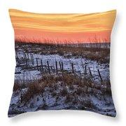 Orange Dawn Throw Pillow