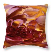 Pink And Yellow Fantasy 3 Throw Pillow