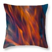 Orange Fire Throw Pillow