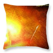 Orange Fireworks Throw Pillow
