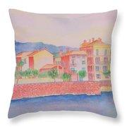 Orange Fisherman's Island Throw Pillow
