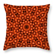 Orange Floral Abstract Throw Pillow
