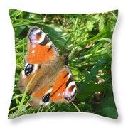 Orange Flutter Throw Pillow