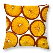 Orange Fresh Throw Pillow