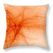 Orange Froth Throw Pillow