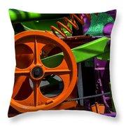 Orange Gear Throw Pillow
