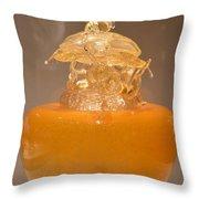 Orange Glass Sculpture Throw Pillow