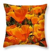 Orange Glimmer Throw Pillow