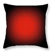 Optical Illusion - Orange On Black Throw Pillow
