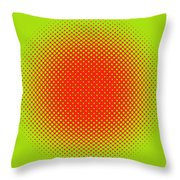 Optical Illusion - Orange On Lime Throw Pillow