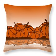 Orange Harvest Throw Pillow