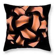 Orange Honeycomb Throw Pillow