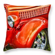 Orange Hood And Fender-hdr Throw Pillow