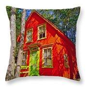 Orange In Asbury Grove In South Hamilton-massachusetts  Throw Pillow