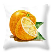 Orange Throw Pillow by Irina Sztukowski