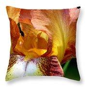 Orange Iris Throw Pillow