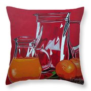 Orange Juggle Throw Pillow