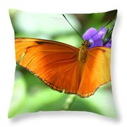 Orange Julia Butterfly Throw Pillow