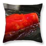 Orange Koi Throw Pillow