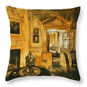 Orange Light At Mount Vernon Throw Pillow