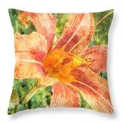 Orange Lily Throw Pillow