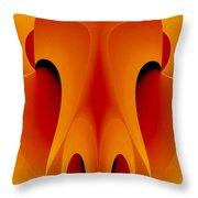 Orange Mask Throw Pillow