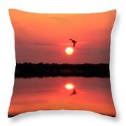Orange Mood Throw Pillow