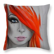 Orange Nectar Throw Pillow