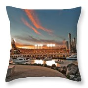 Orange October 2012 Celebrates The San Francisco Giants Throw Pillow by Jorge Guerzon