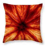 Orange On Fire Throw Pillow