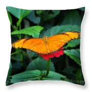 Orange On Pink Throw Pillow