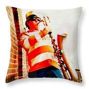 Orange On White Throw Pillow