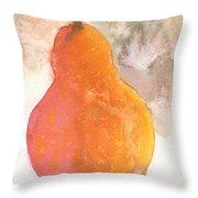Orange Pear Throw Pillow