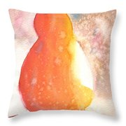Orange Pear2 Throw Pillow