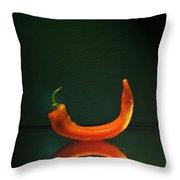 Orange Pepper Throw Pillow