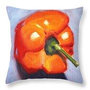 Orange Pepper Still Life Throw Pillow