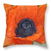 Orange Pop Watercolor Throw Pillow