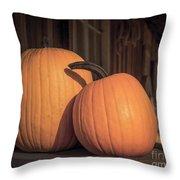 Orange Pumpkins Throw Pillow