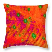 Orange Purple Tapestry Abstract Throw Pillow