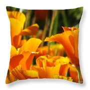 Orange Rising Throw Pillow
