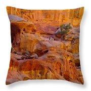 Orange Rock Formation Throw Pillow
