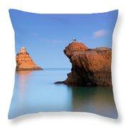 Orange Rock Formations Throw Pillow