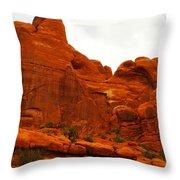 Orange Rock Throw Pillow