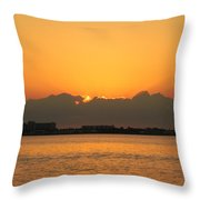 Orange Skies Throw Pillow