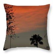 Orange Skies Throw Pillow