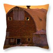 Orange Sky Barn Throw Pillow