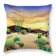 Orange Sky Sunset Throw Pillow