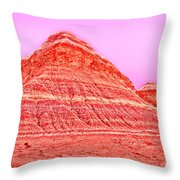 Orange Slice Mountain Throw Pillow
