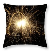Orange Sparkle Throw Pillow