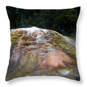 Orange Spring Mound #2 Throw Pillow